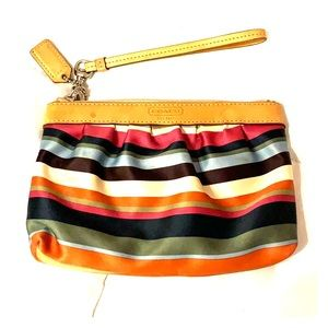 Authentic Coach wristlet, barely used